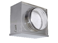 Воздушный фильтр-бокс Аэроблок с фильтром для круглых воздуховодов FBCr 200