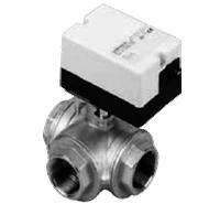 Трехходовой водяной клапан с приводом Gruner 235 R3-024-BOLI100B