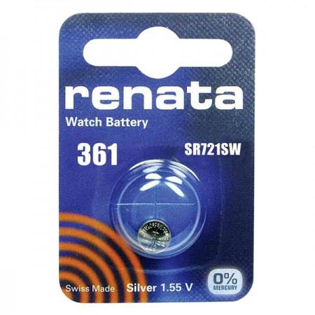 Батарейка Renata R 361 SR721W 1.55V, 1 шт, блистер
