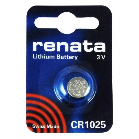 Батарейка CR1025 Renata 30mAh, 1 шт, блистер