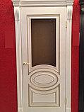 """Двери межкомнатные из массива сосны """"ДЛ 200 Белая эмаль ПГ"""", фото 3"""