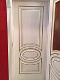 """Двери межкомнатные из массива сосны """"ДЛ 200 Белая эмаль ПГ"""", фото 4"""