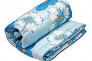 Одеяло стеганое холлофайбер ромашка