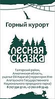 """Доставка на курорт """"Лесная сказка"""" (Алматы)"""