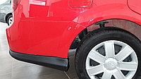 Накладки (юбки, обвес, клыки) на задний бампер Daewoo Gentra, фото 1