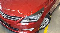 Накладки на фары (реснички) Hyundai Accent (Solaris) 2014+, фото 1