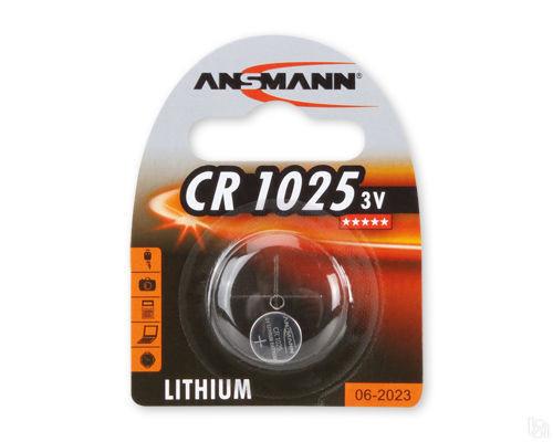 Батарейка ANSMANN 1516-0005 CR1025 BL1