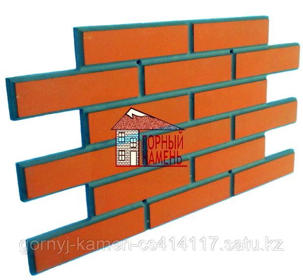 Фасадная панель бетонная под клинкерный кирпич на шурупах