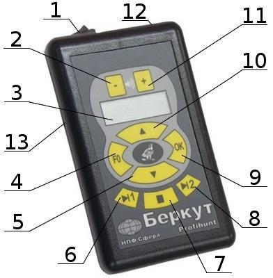 Элементы управления и индикации электронного манка PROFIHUNT K2