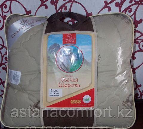 Одеяло из овечьей шерсти, 1,5-сп. облегченное