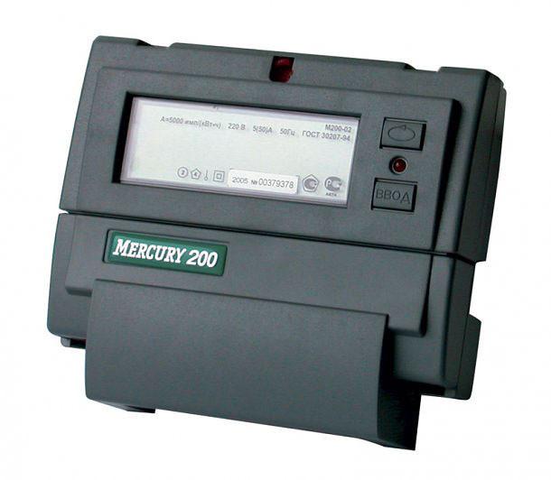 Меркурий 200.04 (M) Счетчик электроэнергии однофазный многотарифный