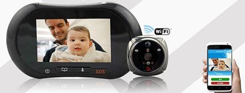 """Встроенный в видеоглазок  """"iHome3"""" модуль Wi-Fi позволяет ему соединяться со смартфонами"""