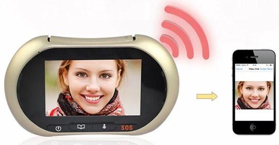 """Видеоглазок """"SITITEK iHome3"""" может через Wi-Fi соединяться с устройствами на iOS и Android"""
