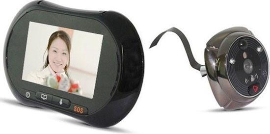 """Внешний монитор видеоглазка """"SITITEK iHome3"""" соединяется с камерой посредством гибкого шлейфа"""