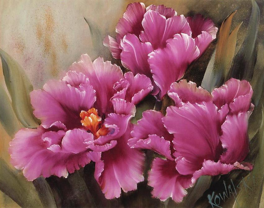 """Алмазная вышивка """"Три розовых цветка"""" 40х50 см"""