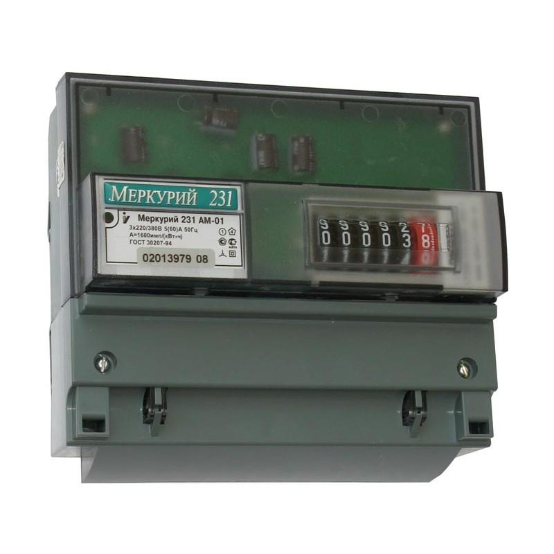 Меркурий 231 AM-01 Счетчик электроэнергии , трехфазный активной энергии ,однотарифный