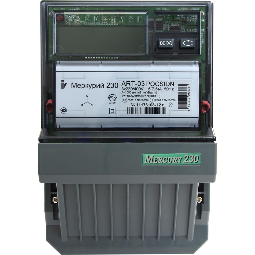 Меркурий 230 ART-03 PQRSIDN Счетчик электроэнергии трехфазный,активно/реактивный