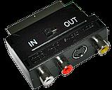 Переходник SCART-3RCA+S-Video с переключателем, фото 2