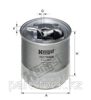 Фильтр топливный   на / для MERCEDES, МЕРСЕДЕС, HENGST H278WK