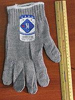 Перчатки х/б серые, Перчатки хб оптом, Рабочие перчатки оптом х/б, фото 1