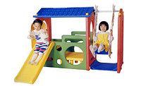 Игровой центр с горкой и качели Haenim toys HN-703