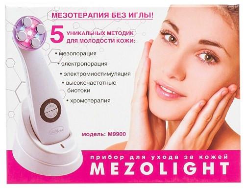 """Массажер """"Мезотерапия лица без иглы"""" Gezatone m9900 имеет красочную упаковку"""