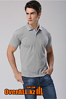 Мужская футболка поло, серая, фото 1