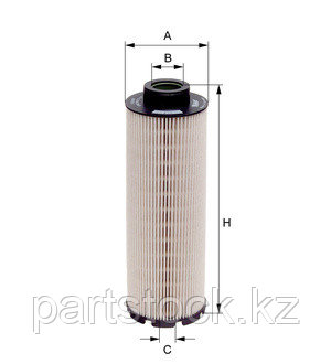 Фильтр топливный   на MAN, МАН, MAHLE KX 73/1 D