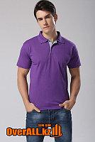 Фиолетовая футболка поло, оптовый пошив, фото 1