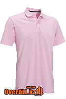 Светло-розовая футболка поло, фото 1