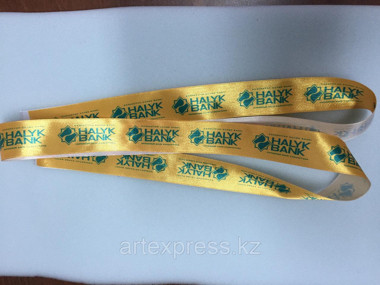 Ленты атласные с нанесением логотипа (Алматы) - фото 2