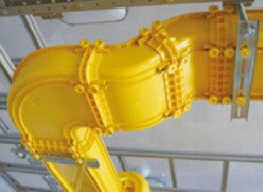 Внутренний  отвод 45° к кабельному коробу  Optiway 120x100, фото 2