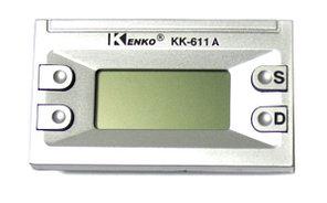 Часы автомобильные КК-611 А, серебристые с будильником