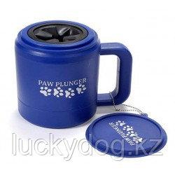 Paw Plunger Medium Blue Лапомойка для средних собак синяя, для лапы 8 см