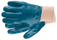 Перчатки рабочие из трикотажа с нитриловым обливом, манжет, L СИБРТЕХ