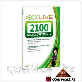 Xbox Live 360 2100 Microsoft Points