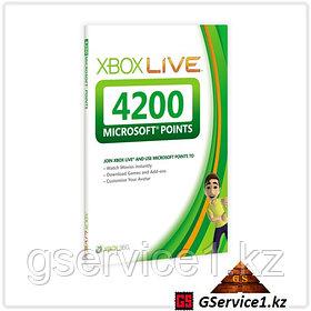 Xbox Live 360 4200 Microsoft Points