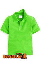 Зеленая футболка поло для детей