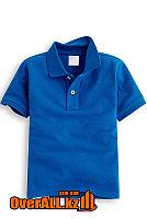 Детская синяя футболка поло , фото 1