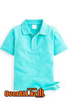 Голубая детская футболка