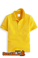 Желтая футболка поло для детей