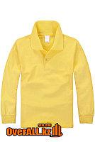 Желтый лонгслив поло для детей, фото 1