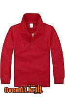 Красная футболка поло с длинным рукавом, фото 1