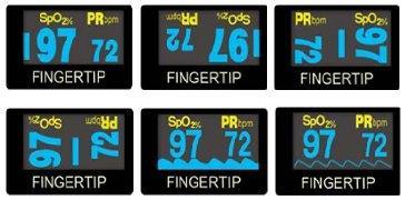 Пульсоксиметр CHOICEMMED MD300C22 поддерживает 6 вариантов отображения информации для удобства работы в любых условиях