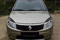 Реснички на фары Renault Sandero 09-13