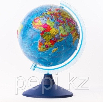 Глобус политический рельефный диаметр 210мм