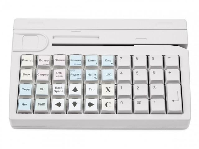 Клавиатура программируемая с ридером магнитных карт Posiflex KB-4000