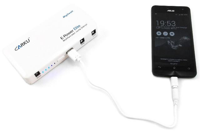 """Пуско-зарядное устройство """"Carku E-POWER Elite"""" 44,4 Вт/ч оборудовано индикатором уровня заряда встроенного аккумулятора"""