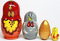 """Деревянная игрушка """"Матрешка сказка Золотое яичко 4 в 1"""" RNToys, фото 1"""