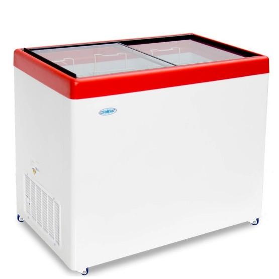 Ларь морозильный СНЕЖ МЛП-350 красный.